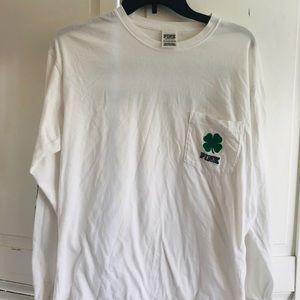 🔥PINK ladies long sleeved Irish tee shirt 🔥